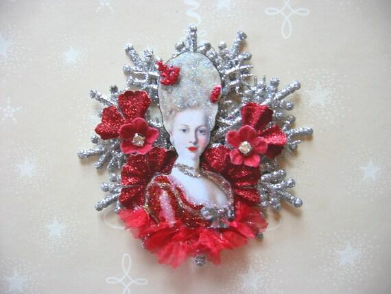Marie Antoinette Sparkling Snowflake original Christmas Ornament