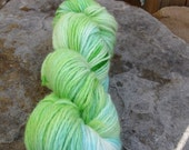 For Nutshell Farms Thanks Sea Glass  Soft Greens/Blue Hand Dyed Worsted Weight Wool Yarn