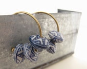 Hoop earrings painted ceramic golden - Rustic Ceramic wheels- Jewelry on Sale -Black Friday Etsy Cyber Monday Etsy