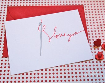 Eye Love You Letterpress Card