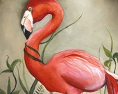 Flamingo Art- Archival print