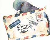 Messenger- Carrier Pigeon Print