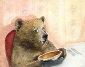 Bear Art - Pumpkin Pie - archival print