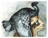 69 B.C.- Cleocatra  Art Print, cat art