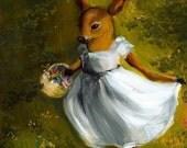 Dolly- deer Art, children, room, decor