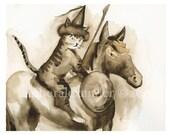 Genghis Khitten-archival  art print