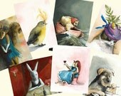 You Choose 5 cards- greeting cards, blank, animals