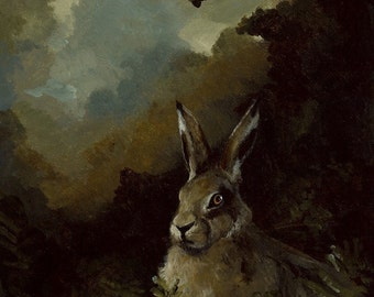 Rabbit in the Forest- archival print