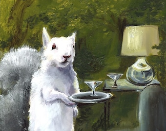 Donald- Albino Squirrel LARGE print