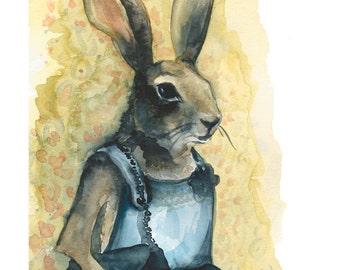 Aunt Bunny archival print
