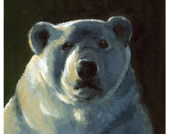 I'd like more Ice Please - LARGE polar bear art