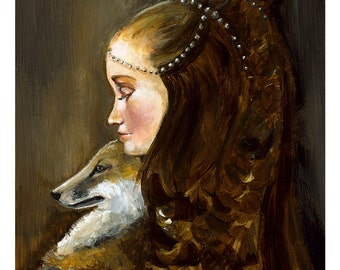 Rapunzel and Her Fox- large print