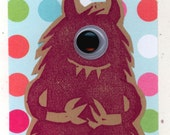 One-Eyed Monster Greeting Card