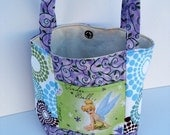 Reserved Mini Tote Tinker Bell Puprle Green
