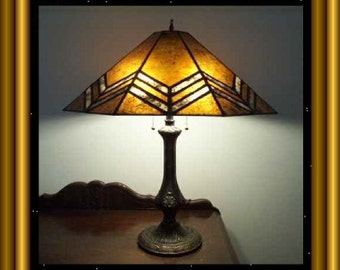 Faber Prairie Mica Shade for your Antique Lamp Base