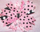 INVENTORY CLOSE-OUT  quadruple layered stacked pinwheel french clip bow - ballet shoes dance ribbon - ready to ship