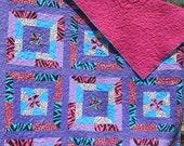 Wild Purple Twin Quilt