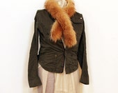 Urban Nomad - Recycled fur scarf or fur collar from vintage fox fur coat