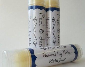 Plain June Unflavored Natural Lip Balm