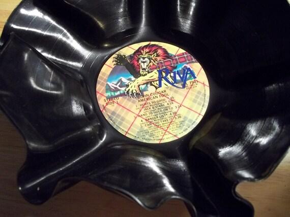 John Cougar Mellencamp - record album LP bowl - UNIQUE