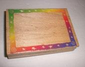Hero Arts - Swirl Star Frame H1258 - wood mounted rubber stamp