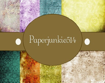 Set 1 Grunge Backgrounds - 5 x 5 Inches - Digital, Download, Digital Scrapbook Papers - BUY Any 3 Three Dollar Digital Items Get 1 Free