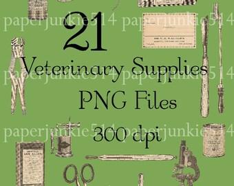 Digital PNG Files - Veterinary Supplies -  Digital, Download, Digital Graphics - BUY Any 3 Three Dollar Digital Items Get ONE Free
