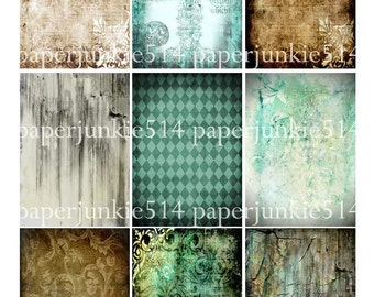 Digital Collage Sheet 15 - ACEO, ATC - Buy Any 3 Three Dollar DIigital Items Get 1 Free