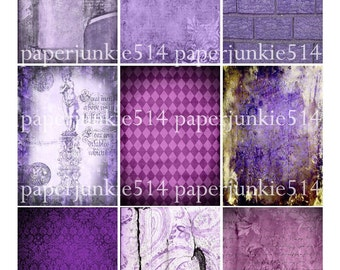 Digital Collage Sheet 17 - ACEO, ATC - Buy Any 3 Three Dollar DIigital Items Get 1 Free