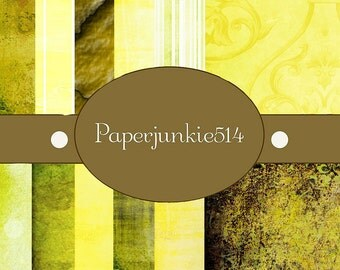 Yellows  -12x12 -  Digital Scrapbook Papers - BUY Any 3 Three Dollar Digital Items Get 1 Free