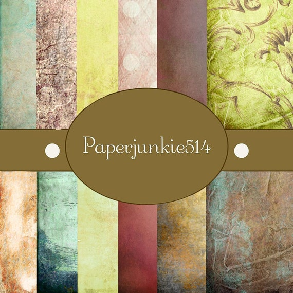 Neutral Grunge  -12x12 -  Digital Scrapbook Papers - BUY Any 3 Three Dollar Digital Items Get 1 Free