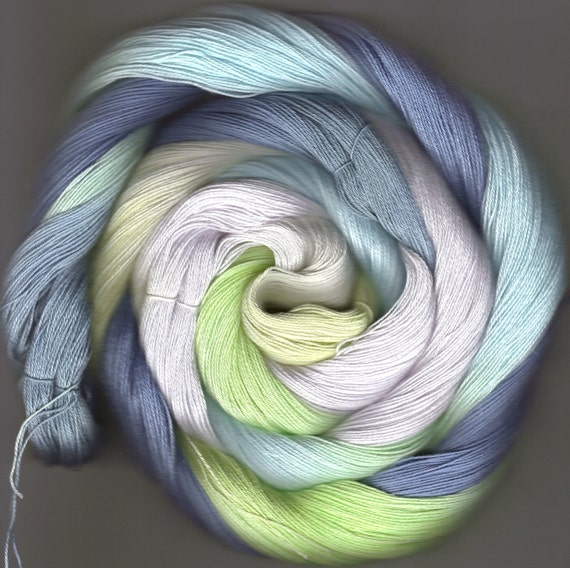 175 yards Hand-dyed Size 10 Cotton Crochet Thread Linton Colorway