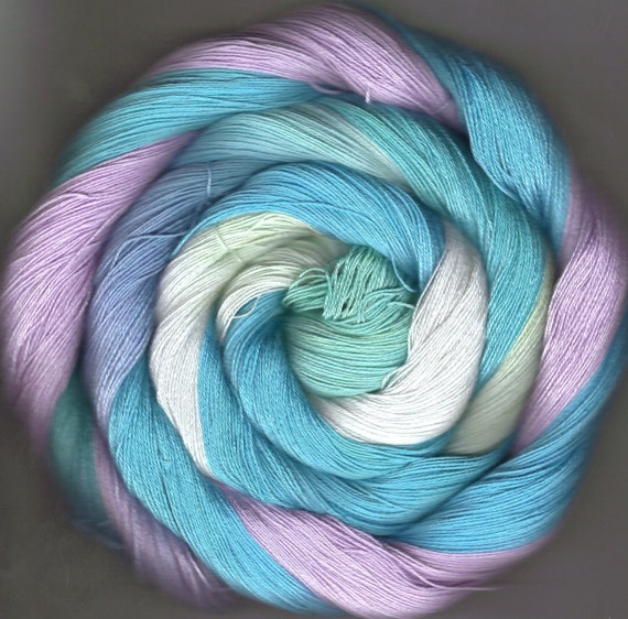 150 yards Hand Dyed Size 10 Cotton Crochet Thread Crom Colorway