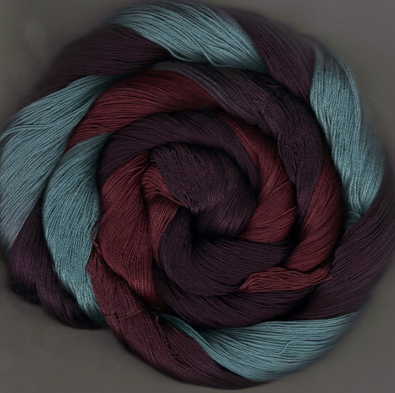 175 yards Hand-dyed Size 10 Cotton Crochet Thread Pycroft Colorway