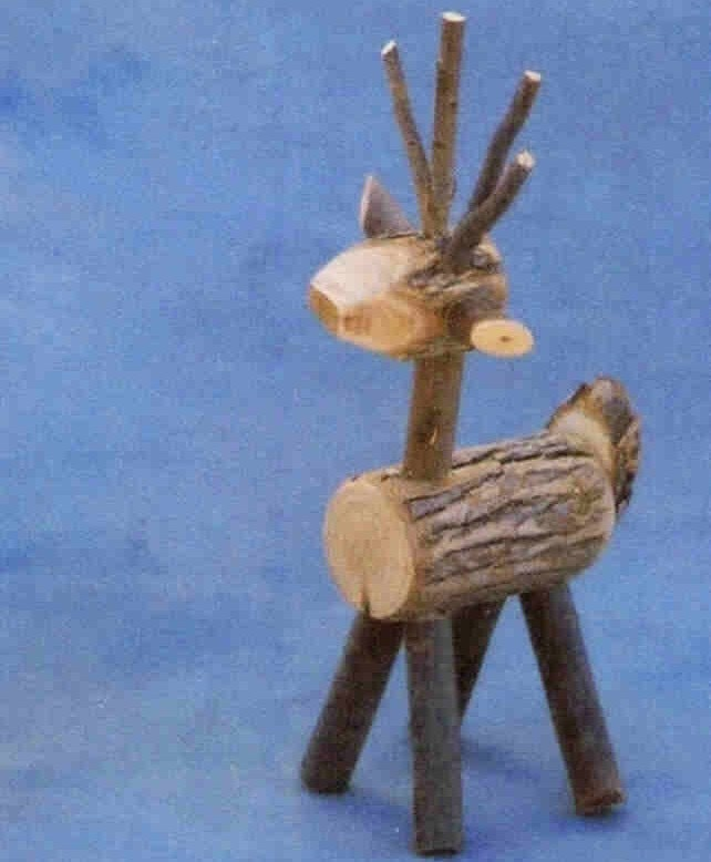REINDEER MADE OF WILLOW TWIGS SEVERAL SIZES