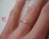 10k hammered gold ring-A touch of gold