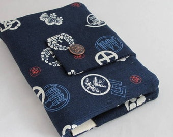 Royal blue traditional pattern in crests travel passport wallet/ holder with coin compartment