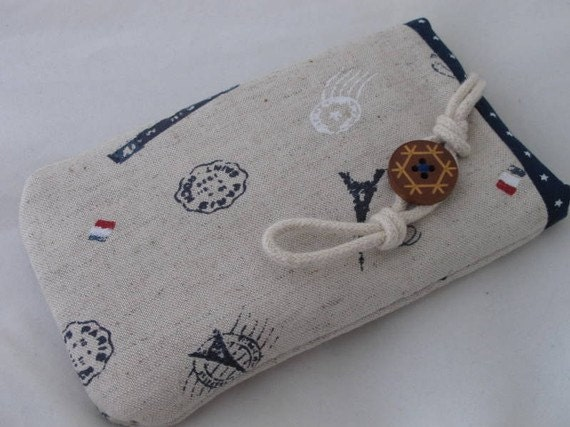 Paris linen mobile phone/MP3 player/ iphone/ ipod pouch
