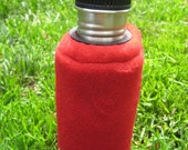 Klean Kanteen bottle cover - you choose the size - red