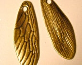 dragonfly butterfly wings  charm 3d antiqued  jewelry findings quantity two  rt6