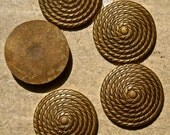 raw brass disc vintage jewelry findings  1950s flat back   nyb7  quantity 2