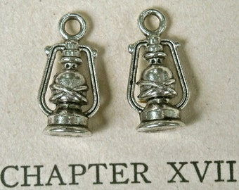 six 16mm oil lamp lantern quantity 6 charms jewelry findings supplies tateam  zombie supply (RB2)