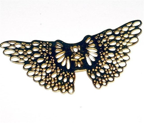 tiny wings miniature filigree angels wings gold color 1x3/4 inch quantity 3