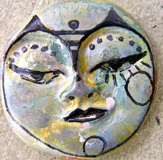 Clay face Cat Woman face handmade supplies Polymer clay doll parts long face jewelry supplies art doll parts  M1