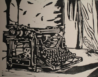 My Underwood Woodblock Print