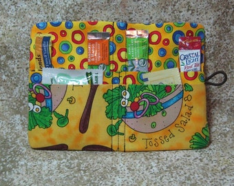Tea Condiment Wallet Salad Veggie Yellow Green Red Blue Brown for Crystal Light or Lipton Tea To Go