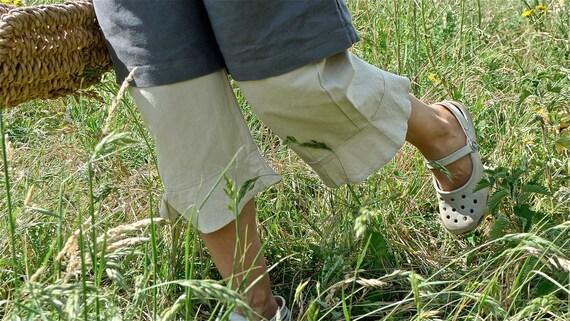 Linen Pantaloons in colour PISTACHIO