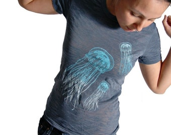 Jellyfish Burnout Tshirt (SMALL)