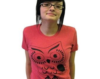 Big Ol Owl Womens Tshirt (Small)