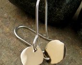 14k gold sterling silver earrings. Solid gold earrings dangle earrings. Mixed Metal 14ct Carat Gold & Silver